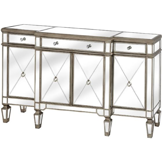 Carlyon Mirrored Wide Drawer Unit - Special Order